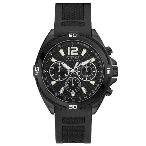 e572c8eec9c45 Relógio Guess Masculino Borracha Preta - W1168G2