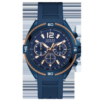 56da3b3b3b4 Relógio Guess Masculino Borracha Azul - W1168G4