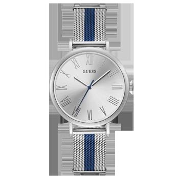 29475c5b129 Relógio Guess Feminino Aço Prateado e Azul - 92711LPGDOA1