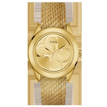 Relógio Guess Feminino Couro Dourado - 92702LPGTDC1 9822a5cb8e