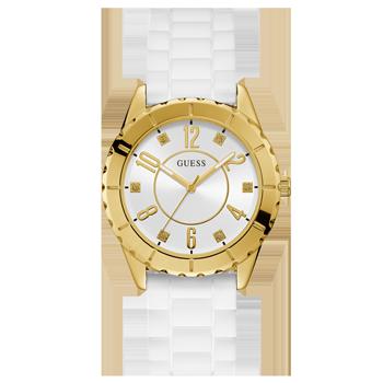 929ce7b7b9d Relógio Guess Feminino Borracha Branca - 92704LPGSDU1