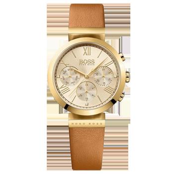 99ea4da3a6e Relógio Hugo Boss Feminino Couro Marrom - 1502396