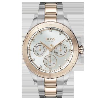 4c0b2a196c7 Relógio Hugo Boss Feminino Aço Prateado e Rosé - 1502446