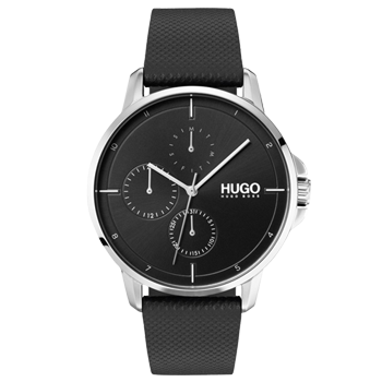 Relógio Hugo Boss Masculino Couro Preto - 1530022 293c92639a