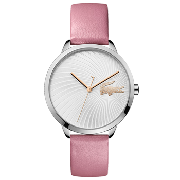 f9899cf62aa51 Relógio Lacoste Feminino Couro Rosa - 2001057