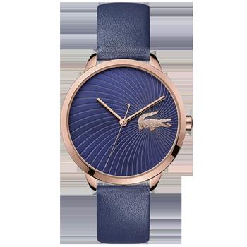 859fa2e156c96 Relógio Lacoste Feminino Couro Azul - 2001058