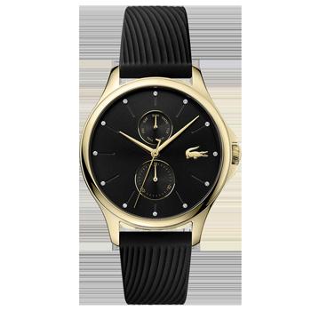 c0b67102213 Relógio Lacoste Feminino Borracha Preta - 2001052