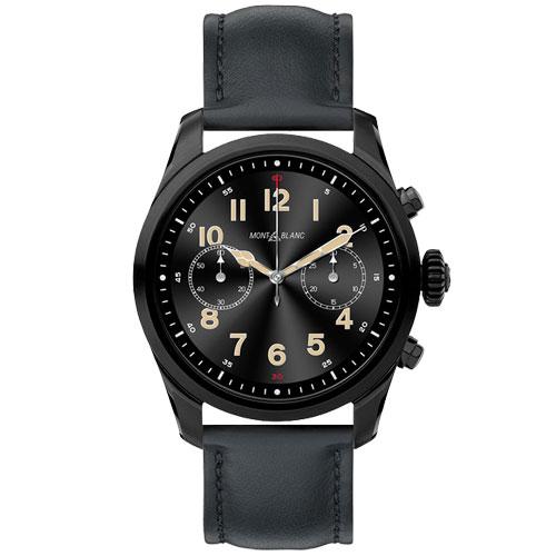 Smartwatch Montblanc Summit 2 Unissex Couro Preto - 123857