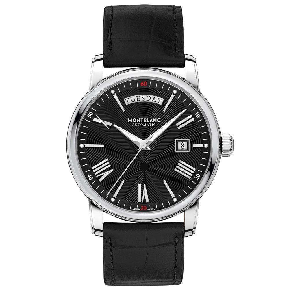 0aba24205bb Relógio Montblanc Masculino Couro Preto - 115936