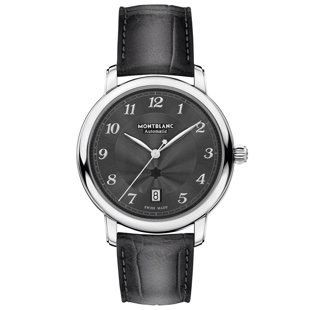 768ff922d6f Relógio Montblanc Masculino Couro Cinza - 118517