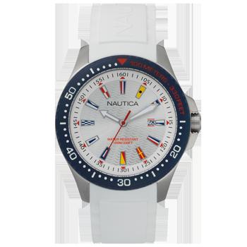 2abf5d16759 Relógio Nautica Masculino Borracha Branca - NAPJBC001