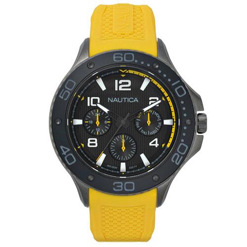1ba90522fa6 Relógio Nautica Masculino Borracha Amarela - NAPP25003