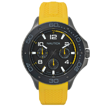 9909bc3b6f3 Relógio Nautica Masculino Borracha Amarela - NAPP25003R  550