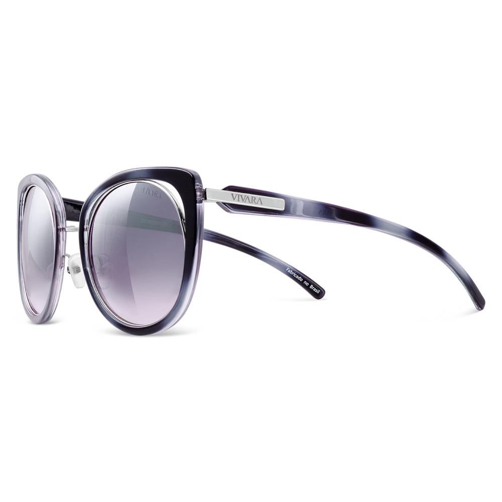 9da1c88890796 Óculos de Sol Gatinho em Acetato Preto