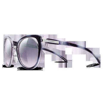 44699ba00f029 Óculos de Sol Gatinho em Acetato Preto