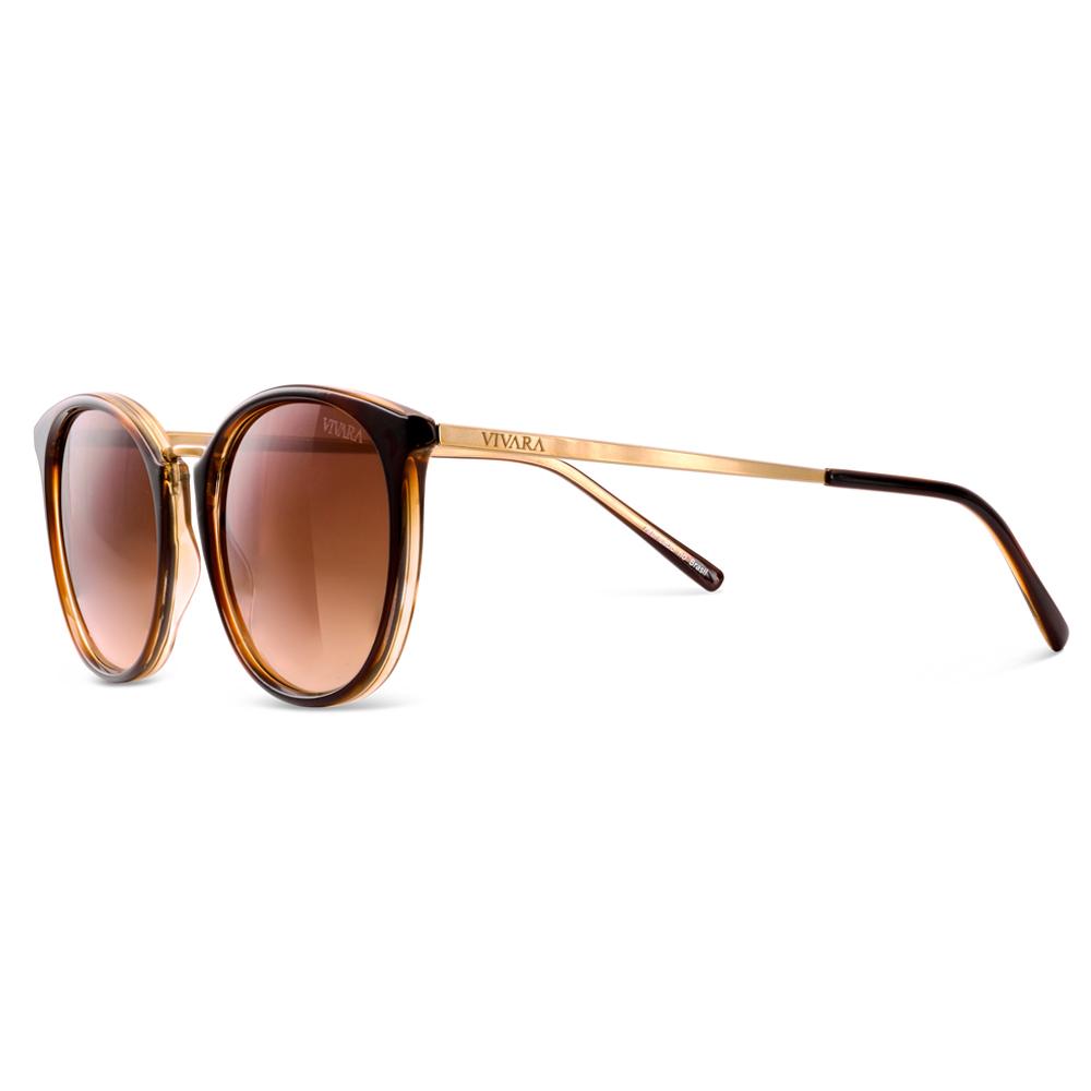 Óculos de Sol Quadrado em Acetato Marrom 44d9d0881c