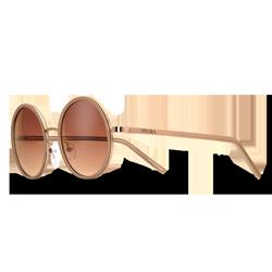 Óculos de Sol Redondo em Acetato Bege 5d1bec93fb