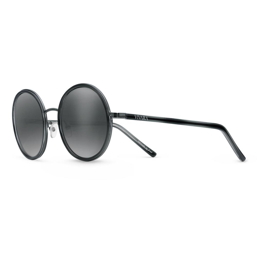 Óculos de Sol Redondo em Acetato Azul 723356b09d