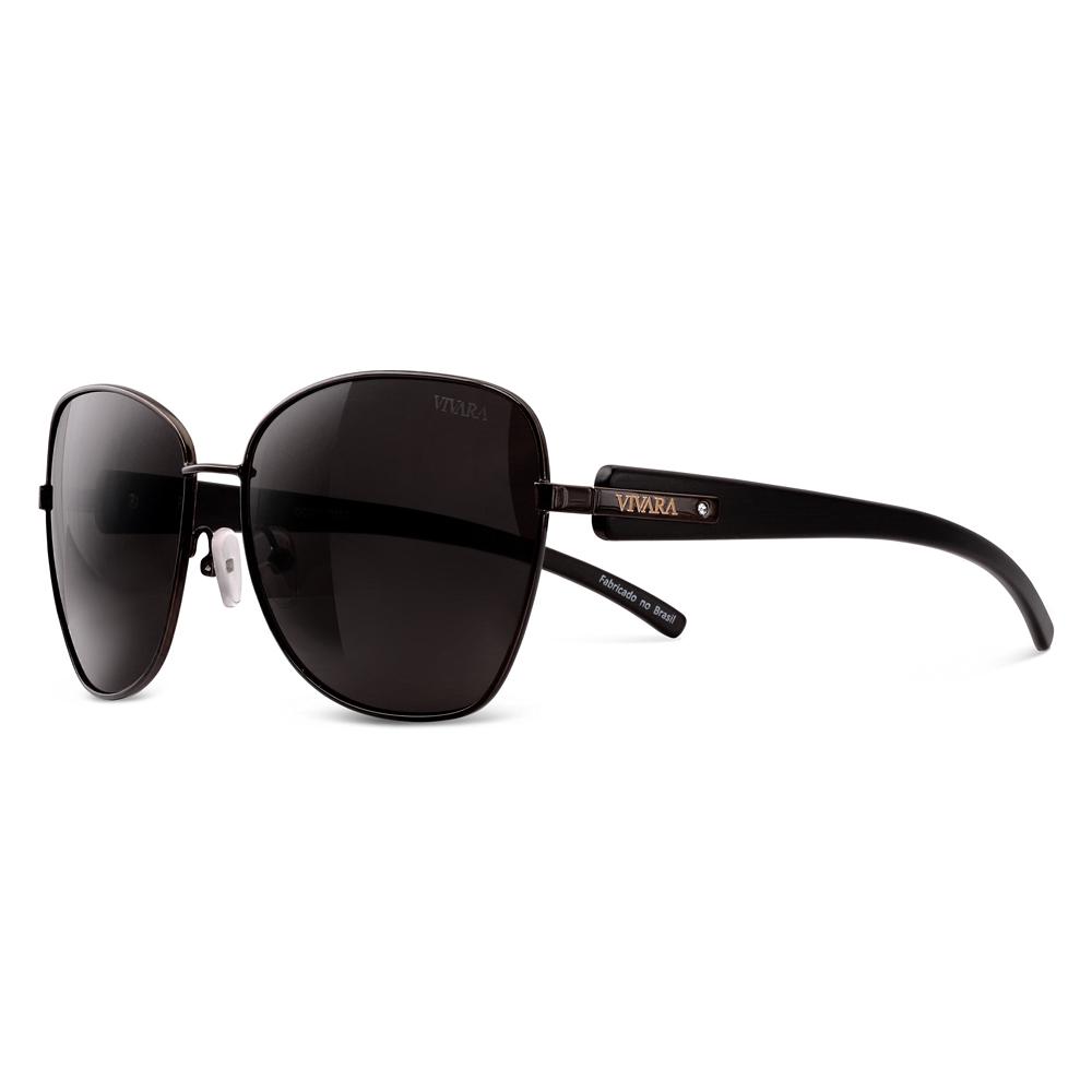 fa027232d Óculos de Sol Aviador em Acetato Preto