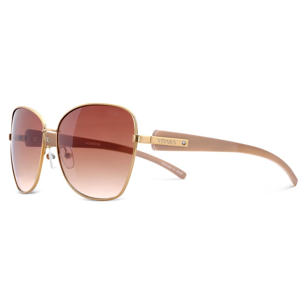 59a3f3bf9 Óculos de Sol Aviador em Acetato Nude