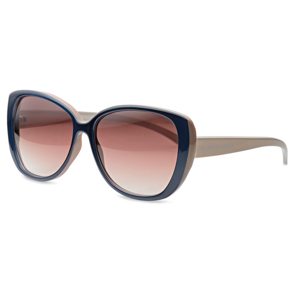 aed512643 Óculos de Sol Gatinho em Acetato Azul e Nude - Colecao Vivara + Salinas