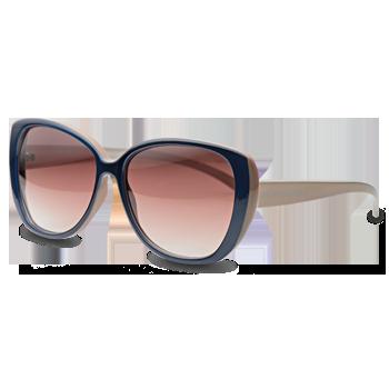 db72d0b31f04c Óculos de Sol Gatinho em Acetato Azul e Nude