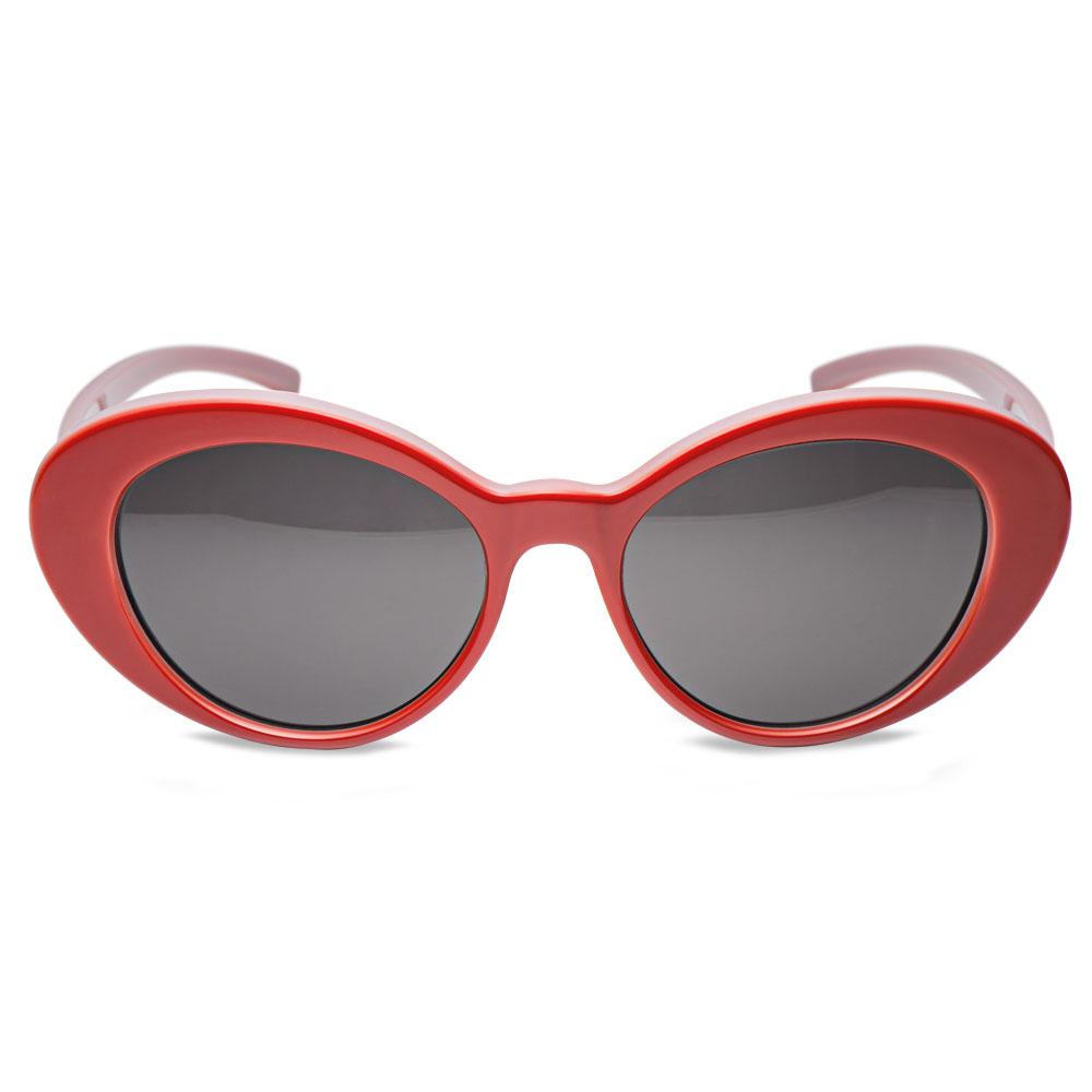 bad4ed1b24 Óculos de Sol Oval em Acetato Vermelho e Lilás - Colecao Vivara + ...