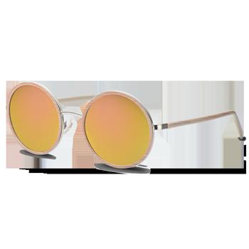 2136ac6349d01 Óculos de Sol Redondo em Acetato Bege. Óculos de Sol Redondo em Acetato  Bege. Coleção Vivara + Salinas