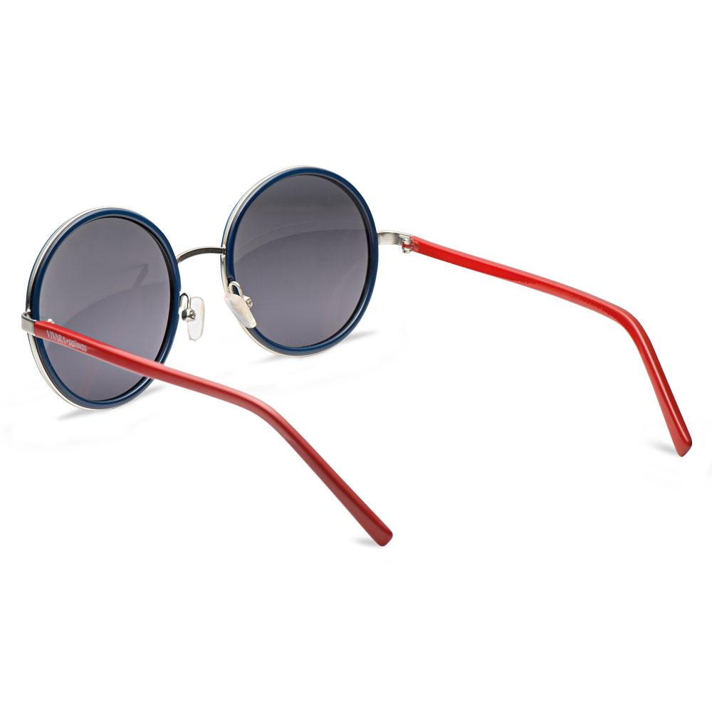 3ef575cad1a69 ... SolÓculos de sol redondo em acetato vermelho e azul - coleção vivara +  salinas. Passe o mouse para ampliar. Confira o estoque deste produto nas  lojas