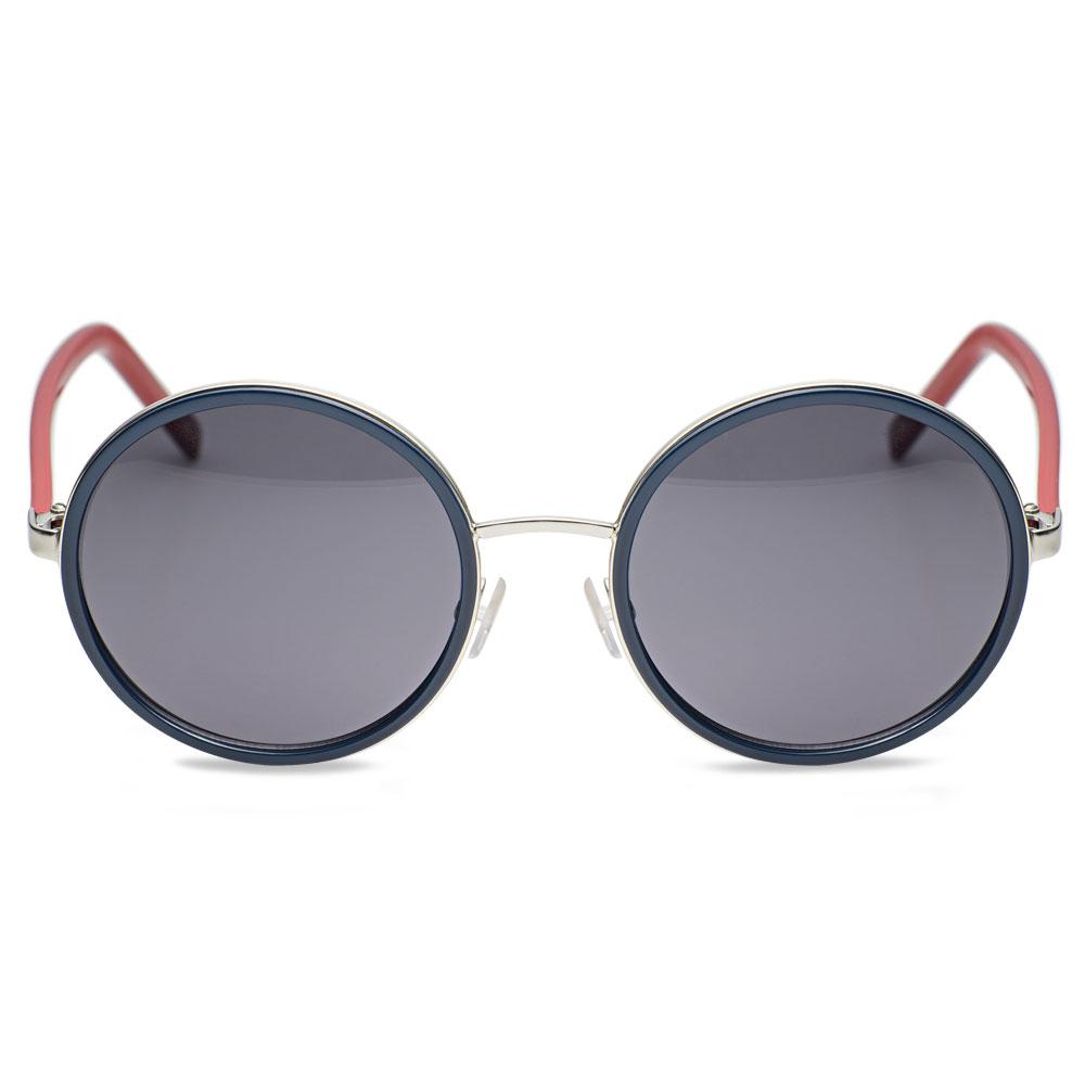 Óculos de Sol Redondo em Acetato Vermelho e Azul - Colecao Vivara + ... 303745c0aa