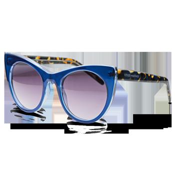 d01d422126069 Óculos de Sol Gatinho em Acetato Azul e Tartaruga. Coleção Vivara + Salinas