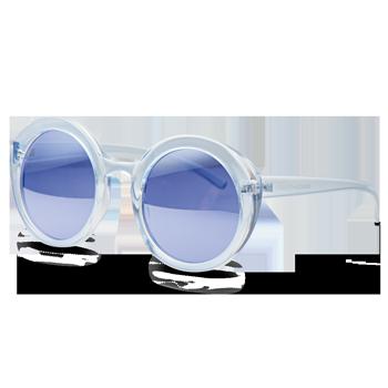 71571fc6c565d Óculos de Sol Arredondado em Acetato Azul. Coleção Vivara + Salinas