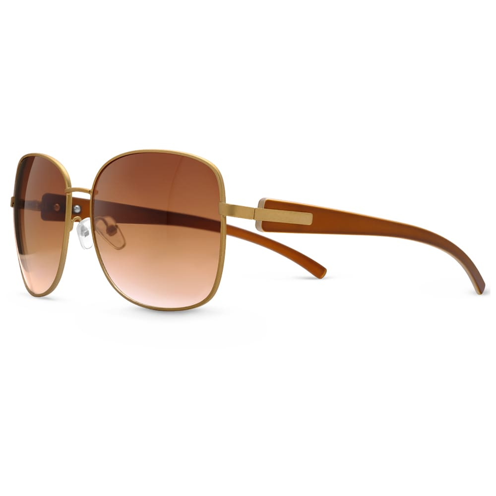 Óculos de Sol em Aço Dourado Fosco 564843b93d