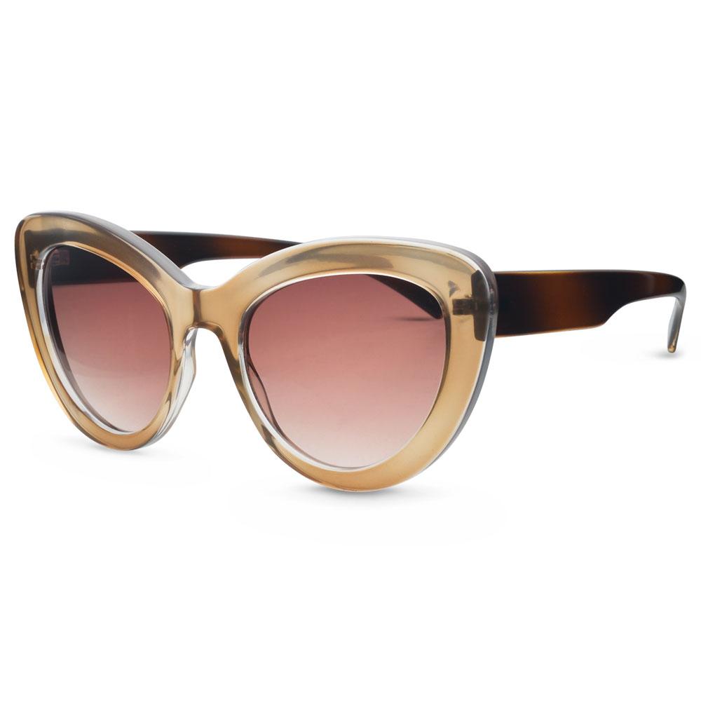Óculos de Sol Gatinho em Acetato Nude 8cf9b2d064