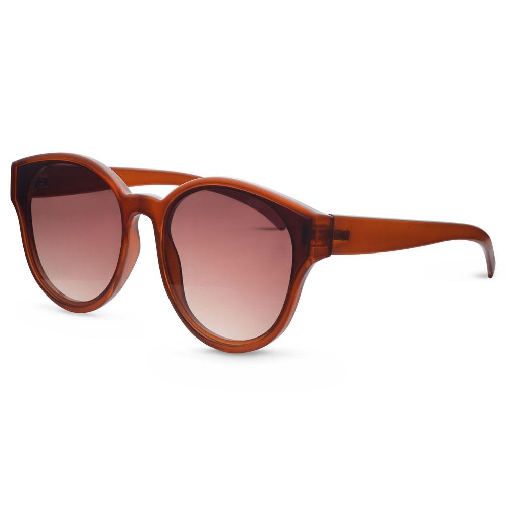 2491c7bd50882 Óculos de Sol Lente Plana em Acetato Marrom