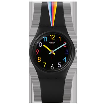 65131273de3 Relógio Swatch Unissex Borracha Preta - GB311