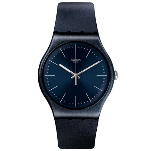 f4123b43c6b Relógio Swatch Unissex Borracha Azul - SUON136