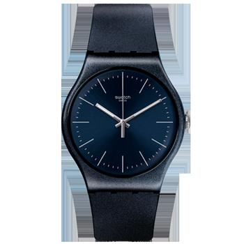 97ed77d878a Relógio Swatch Unissex Borracha Azul - SUON136