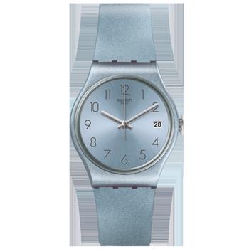 bf368a7511b Relógio Swatch Unissex Borracha Azul - GL401