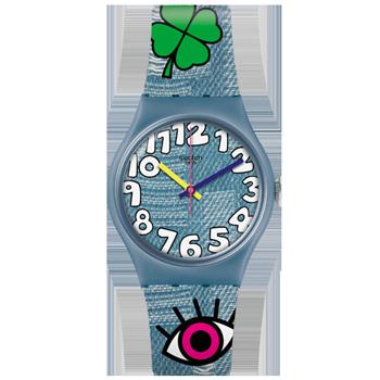 83d6cfb8a99 Relógio Swatch Unissex Borracha Azul - GS155