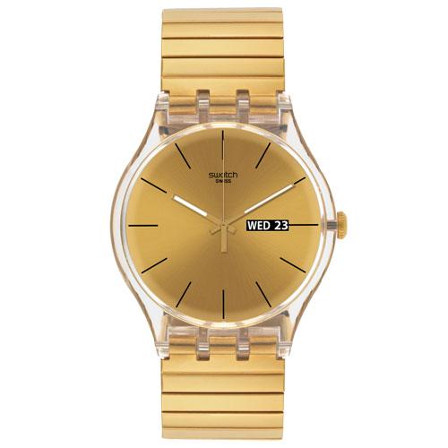 03d5167ddfc Relógio Swatch Unissex Aço Dourado - SUOK702A