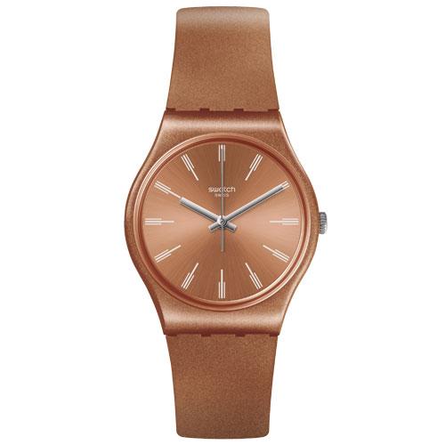 7eaa13e3db9 Relógio Swatch Unissex Borracha Laranja - GO118