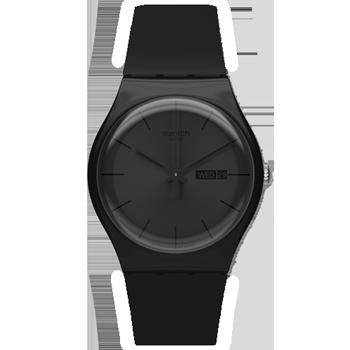 f2bf2a089a5 Relógio Swatch Unissex Borracha Preta - SUOB702