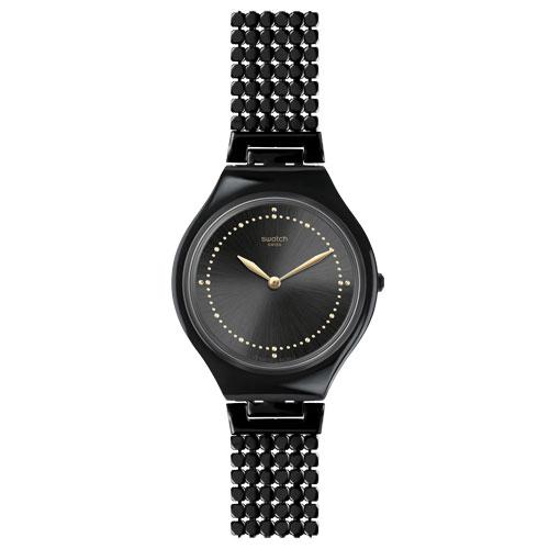 819ff216428 Relógio Swatch Feminino Aço Preto - SVOB103GB
