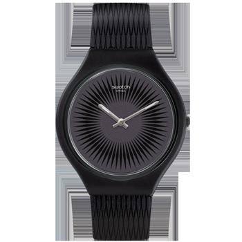 4ad3c6023d9 Relógio Swatch Unissex Borracha Preta - SVOB104