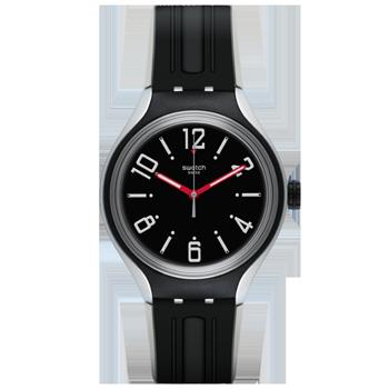 0a10aff0f4c Relógio Swatch Unissex Borracha Preta - YES1004