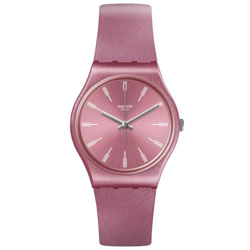 decaec01d17 Relógio Swatch Feminino Borracha Rosa - GP154