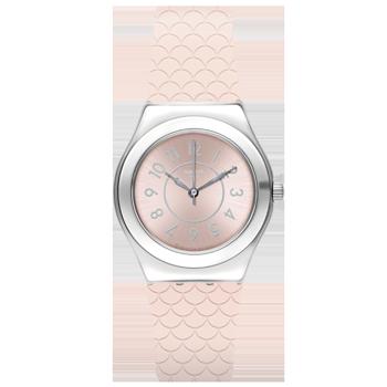 09d27061a19 Relógio Swatch Feminino Borracha Rosa - YLZ101R  750