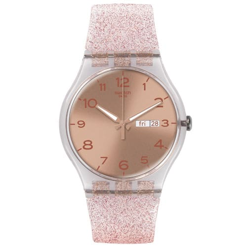 df63ac617a6 Relógio Swatch Feminino Borracha Rosa - SUOK703