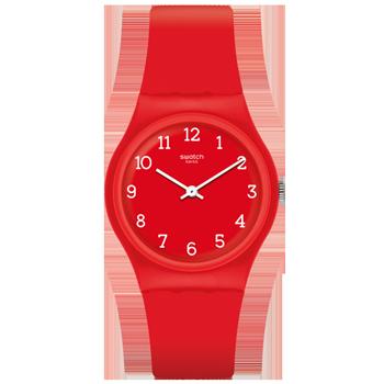 02c83c4ea5b Relógio Swatch Unissex Borracha Vermelha - GR175
